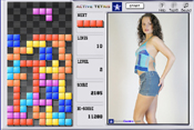 Active Tetris is a free version of the popular Tetris game with top strip models